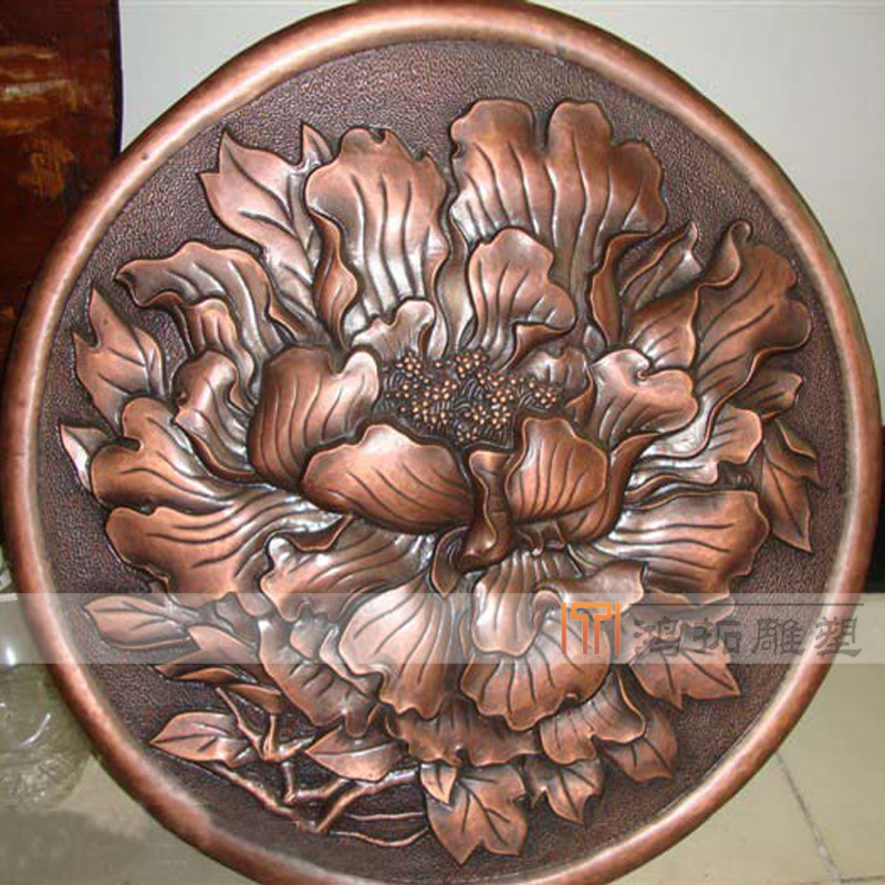 [Sculpture] wrought鸿拓sculpture relief custom wrought copper relief embossed copper forging TD167
