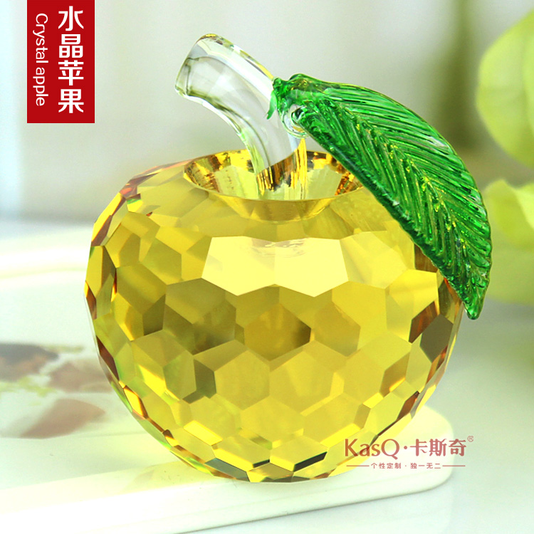 Home accessories and ornaments crystal apple christmas eve gift to send his girlfriend girlfriends creative decorative furnishings
