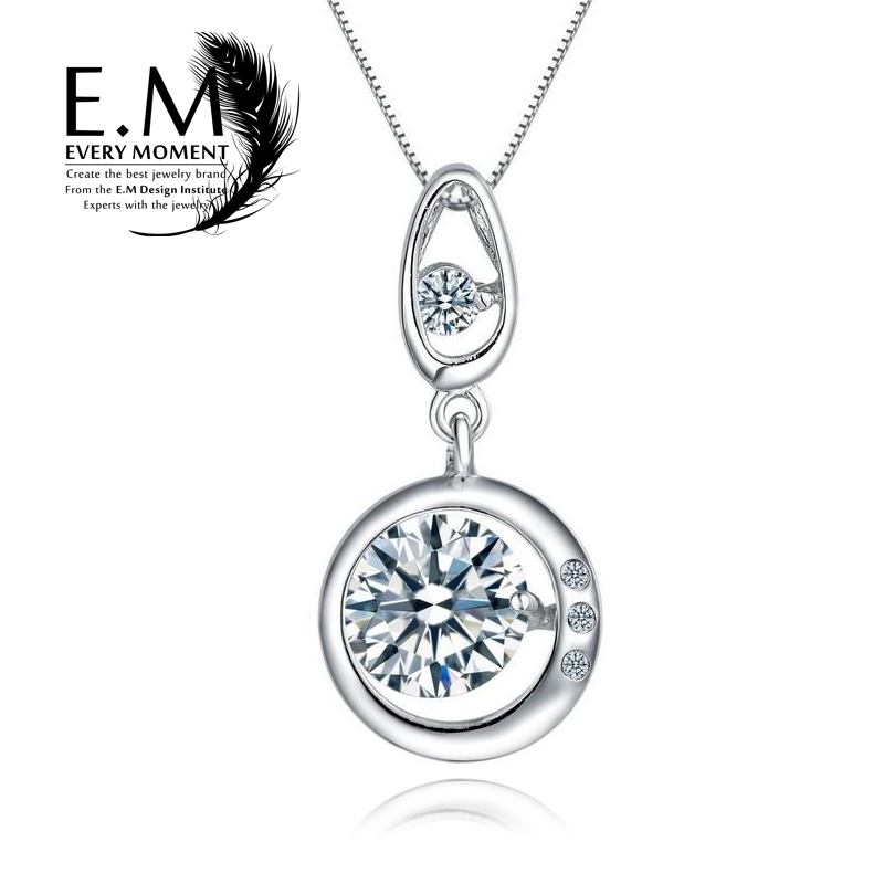 E. m necklace female 925 silver necklace korean jewelry clavicle chain pendant fashion jewelry to send his girlfriend to send girlfriends