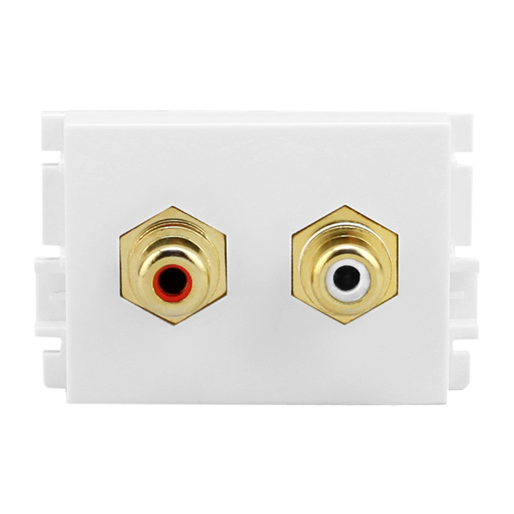 Bay bridge K5-210H lotus red and white audio cable audio line module wall plug with tcl k5 series matching