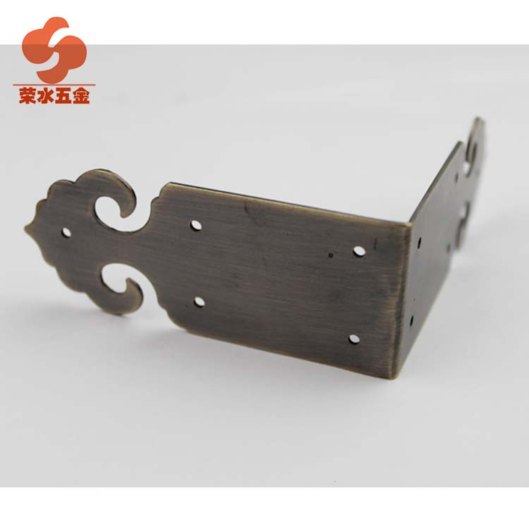 [Hardware] water wing ming and qing furniture antique copper fittings/box 5cm pairs of copper 7.08ct bread angle d-04