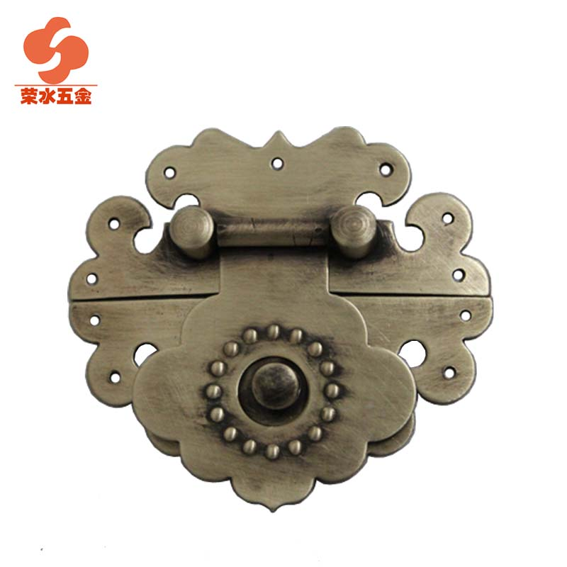 [Hardware] water wing antique ming and qing zhang muxiang copper fittings copper box buckle long 6c m takou C-058