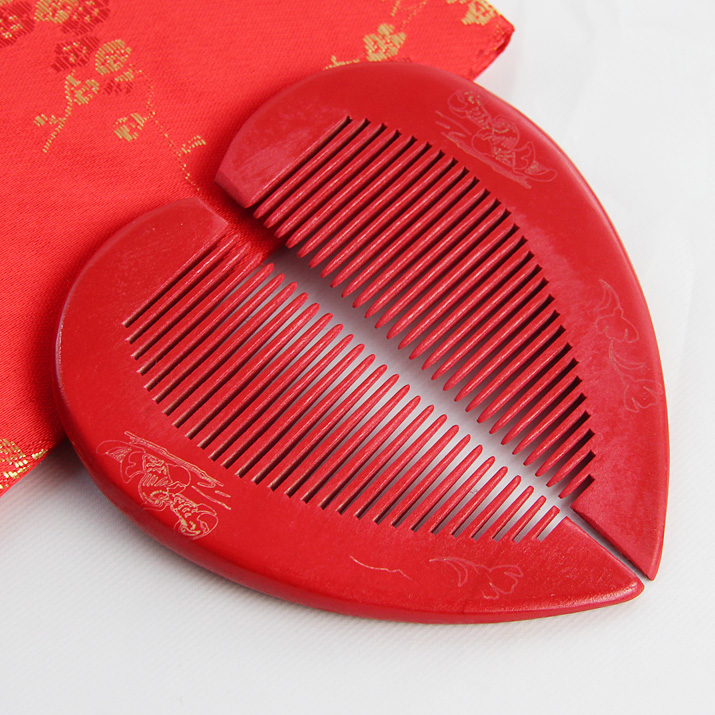 Hi goods space wedding supplies wedding celebration festive red dragon comb comb hair comb essential favor