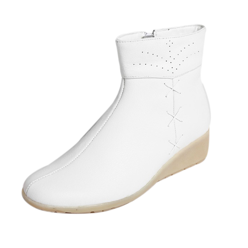 Agere good nurse shoes flagship store in the fall and winter high shoes flat shoes women shoes special care 6379