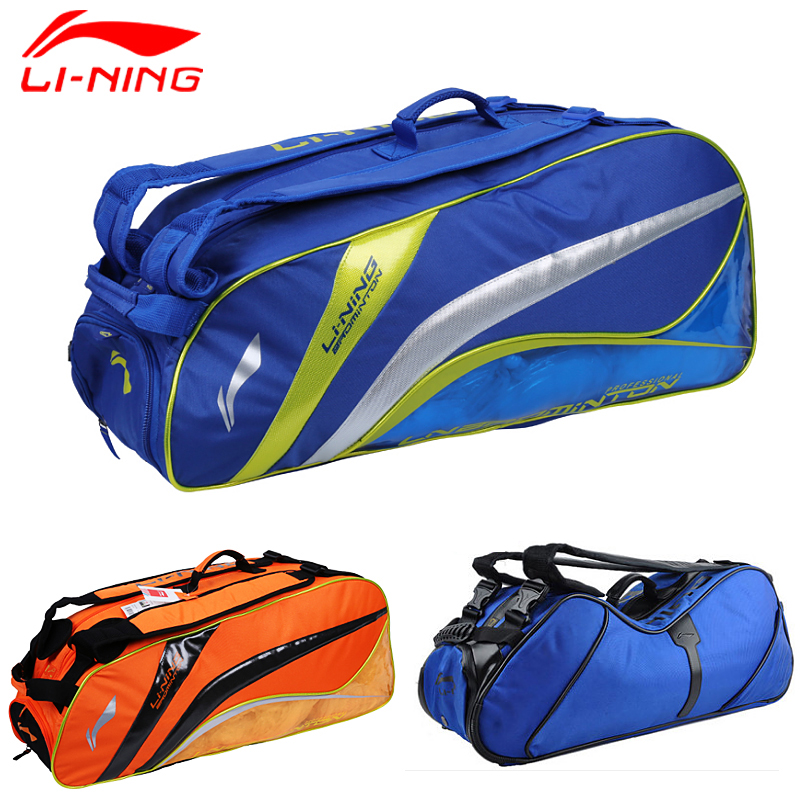 16 years of the new li ning badminton bag 3/6 back loaded male and female models authentic single shoulder bag badminton racket bag