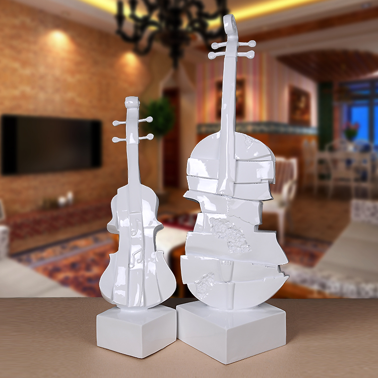 Euclidian violin ornaments creative home furnishings resin crafts decorations living room floor abstract art