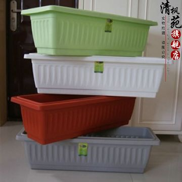 Balcony vegetables basin rectangle king pp resin plastic gardening pots king bypass tray 5 shipping