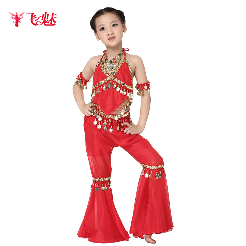 Children fly charm belly dance costume suit new clothes and children's clothing belly dance costumes sequined chiffon summer