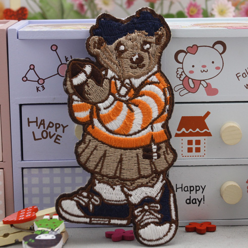 Lai mia large wool clothes decorative stickers affixed adhesive stickers affixed cloth patch stickers affixed to bear