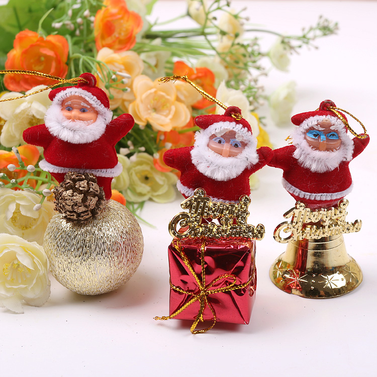 Qixuan christmas santa claus standing santa claus christmas tree ornaments christmas decoration christmas decoration