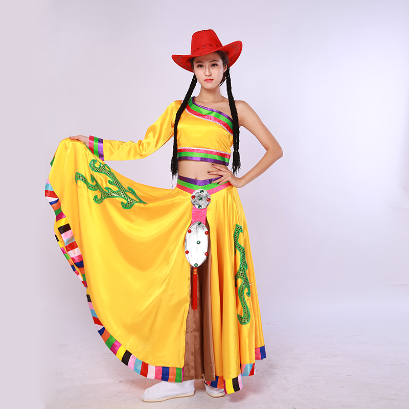 Fell in love with dance kangding love song tibetan dance costume female costumes of the most unusual national wind dance performance clothing