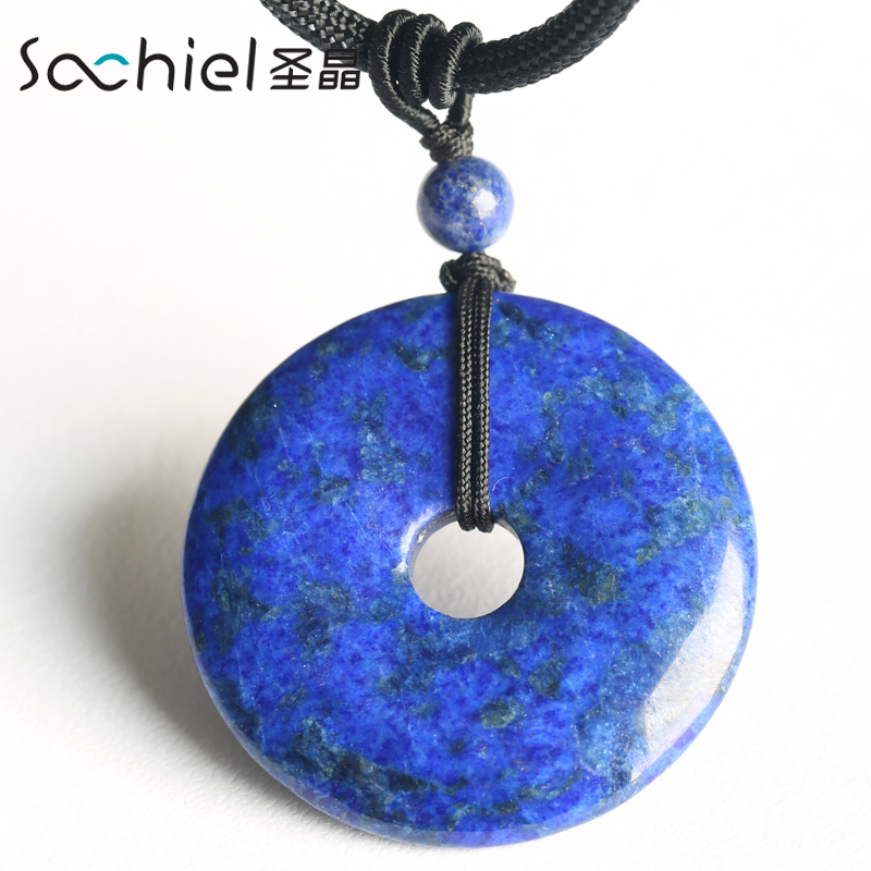 Ms. st. crystal lapis lazuli peace buckle pendants hanging pendant natural crystal pendant korean fashion jewelry