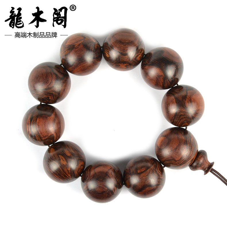 Long wooden pavilion 25mm full grimace hainan pear beads bracelets bracelet tiger stripes sl-2479