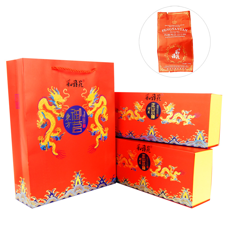 Wind nga oriental imperial tea red tea paulownia off lapsang souchong tea 360g red bag