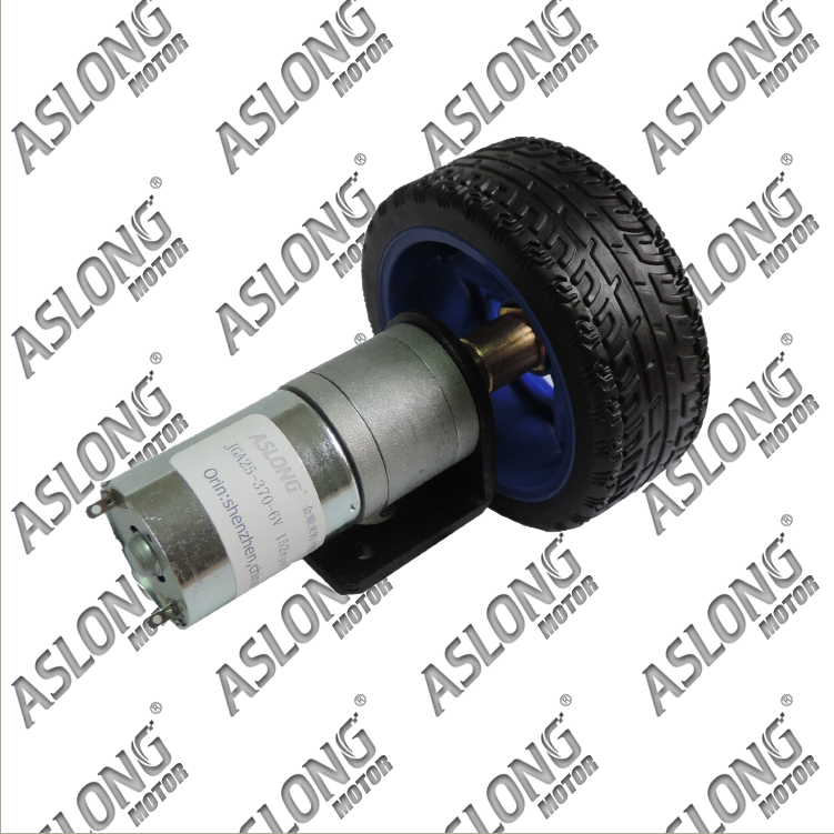 Aslong JGA25-370TZ kit smart car motor gear motor dc gear motor 6 v