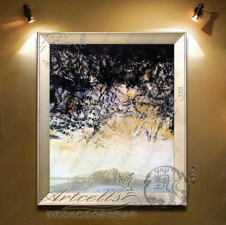 Art elements painted villa den entrance decorative painting modern minimalist living room framed painting zao YZJ014