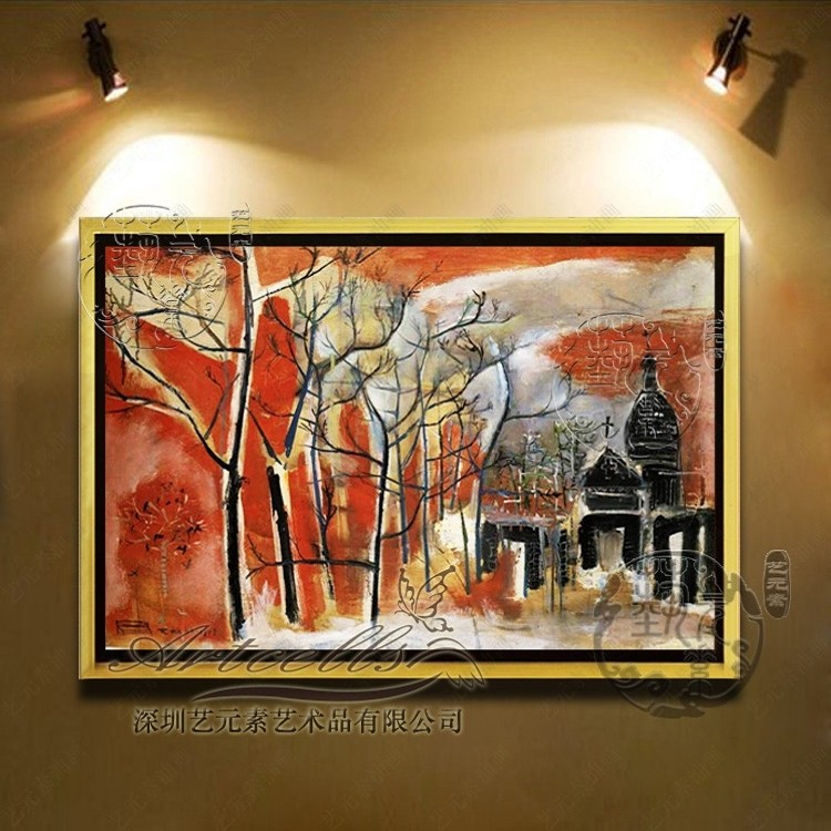Copy zao abstract painting modern minimalist living room framed painting decorative painting den entrance villa YZJ001