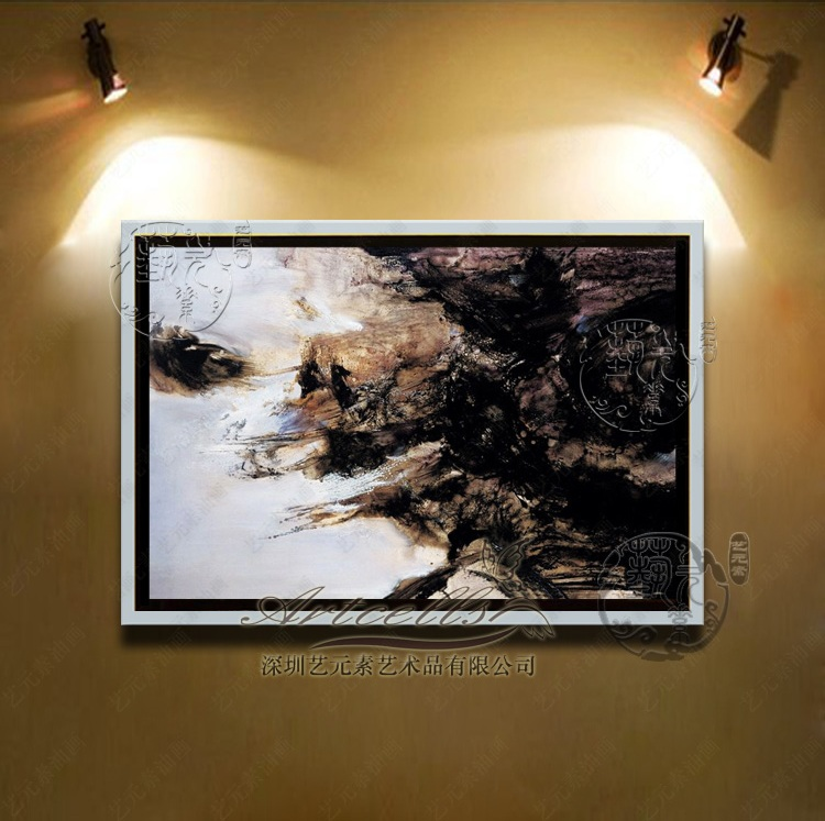 Copy zao abstract painting modern minimalist living room framed painting decorative painting den entrance villa YZJ082