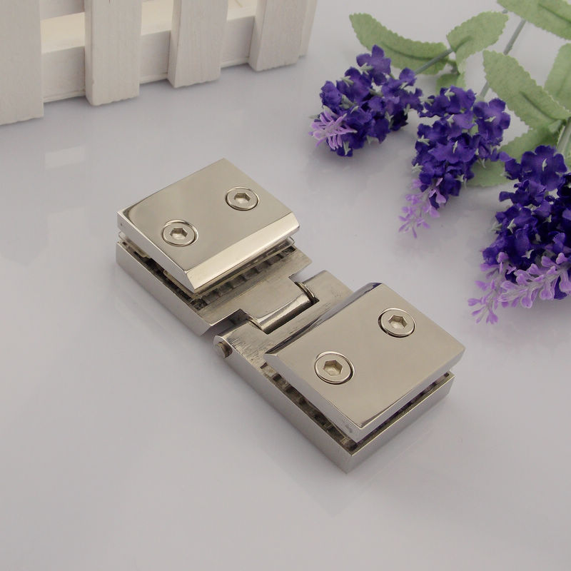 Squeak disabilities stainless steel glass door hinge 180 degrees sided glass clamp glass hinge glass hinge