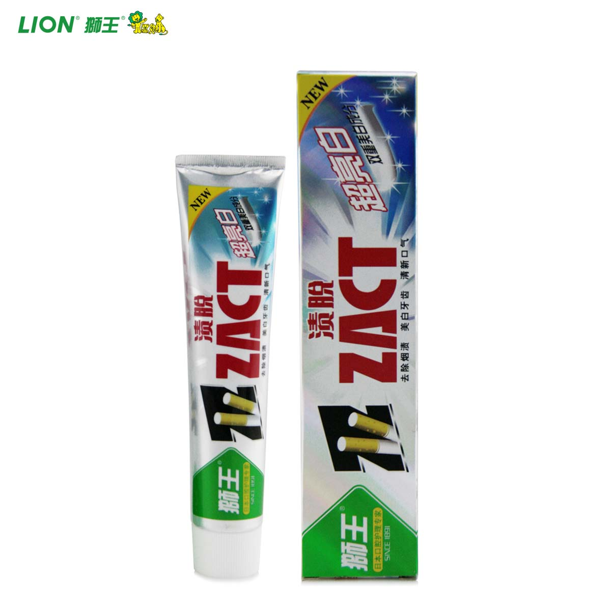 Lion lion zact stains off white 150G smoking white teeth whitening toothpaste to go smoke stains teeth stains