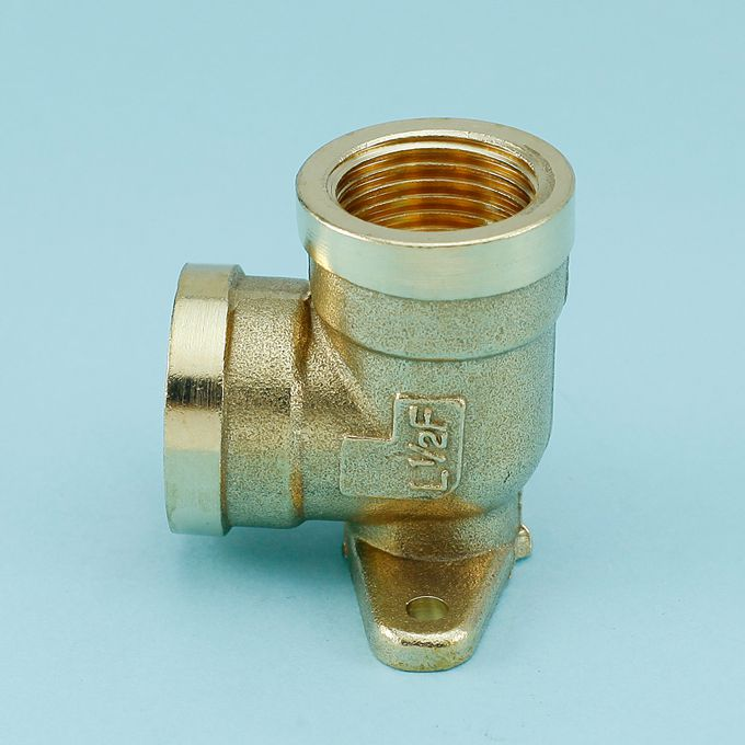 [Full] thick copper 4 points double wire can be fixed 90 degree elbow elbow elbow pipe fittings with copper base