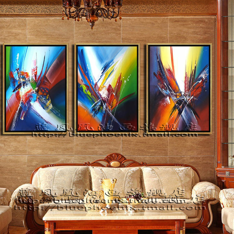 Abstract painting zao ã ã exotic space hotel office entrance living room bedroom dining decorative painting framed