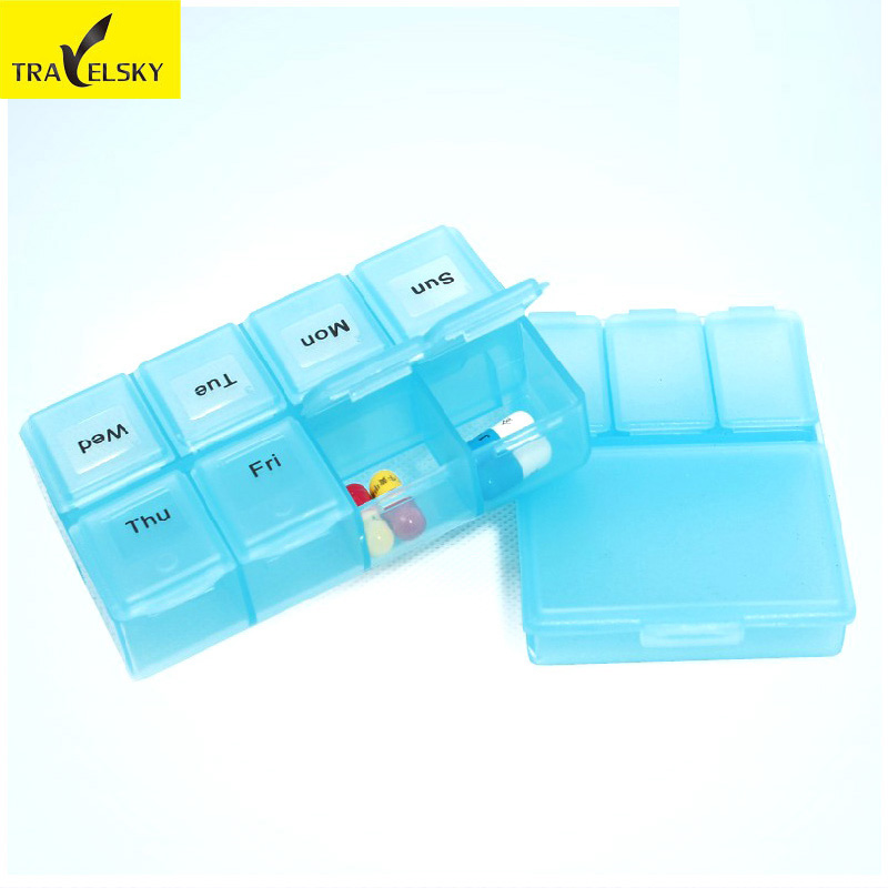 Xintianyou week mini capsule 7 days a portable kit small medicine box portable kit kit one week
