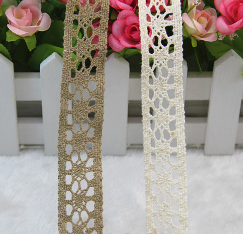Cotton lace accessories clothing accessories handmade lace headdress diy accessories hairpin material 2.5 cm