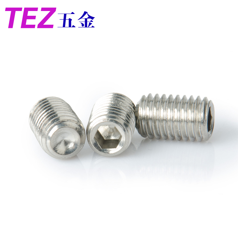 Inside the concave side jimi headless set screws set screws jimi screws/flat end/tip 201 stainless steel m5 series