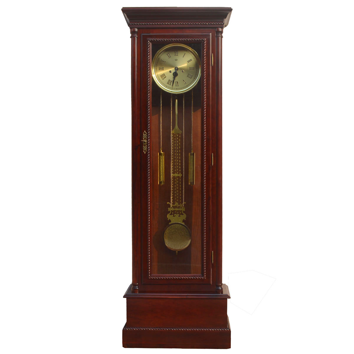European grandfather clock/living room floor clock/copper mechanical movement/polaris movement/carved wood floor clock