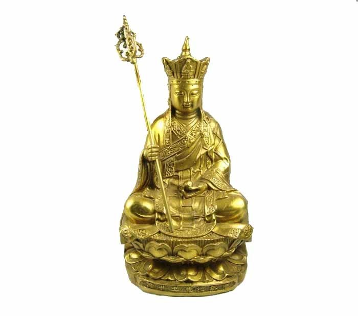 The edge of the friends of the opening of copper ornaments earth store bodhisattva buddha (20 cm) sit blessing buddha adder [book]
