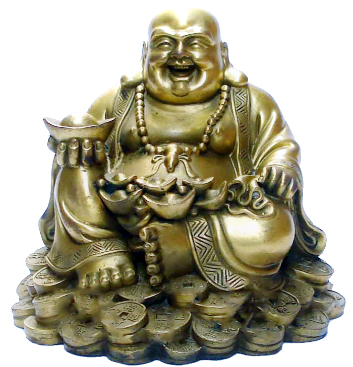 Pure copper gold ingot laughing buddha sitting laughing buddha lucky hannaford [book]