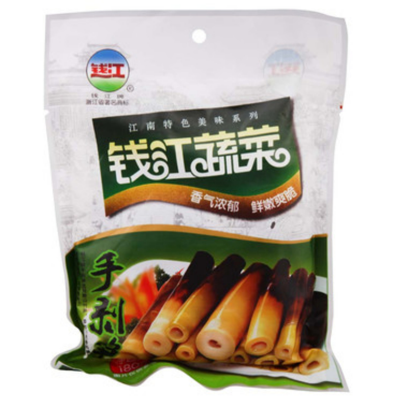 [Supermarket] lynx qianjiang hand stripping bamboo shoots 180g/bag of wild bamboo shoots pickles xiaoshan specialty