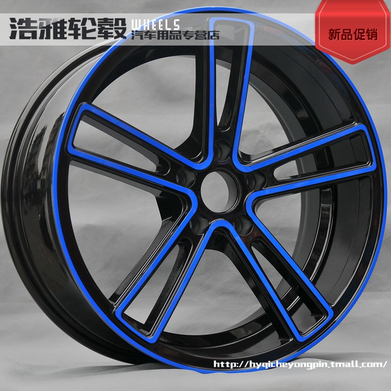 18 inch wheels modified black and blue applicable a4l regal k5 wing god reiz civic bmw alloy wheels