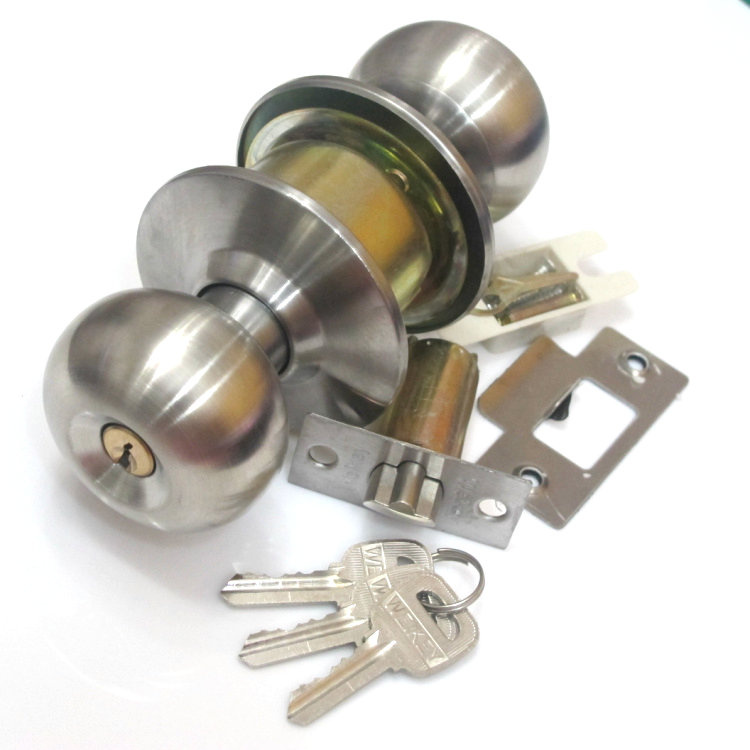 With a key lock 5791ss stainless steel round spherical ball lock the bedroom door interior wood door room door locks
