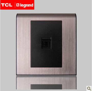 Tcl legrand k5 rose gold brushed metal switch socket type 86 black core computer plug genuine original seat