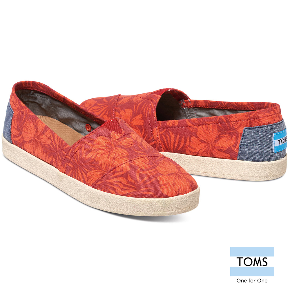 Fuso maximo oliveros toms canvas shoes lazy shoes-women (red) 10007802 red