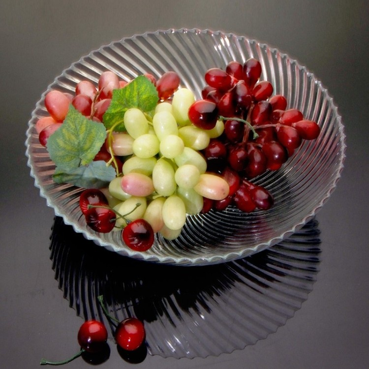 Transparent fashion creative fruit plate fruit plate snack plate fruit plate glass bowl dried fruit compote dish candy dish salad dish dish dish