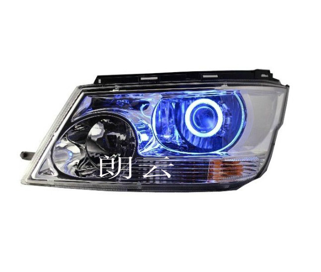 Brilliance jinbei rui chi headlight assembly to change visteon bifocal lens hid xenon lamp angel eyes devil eyes