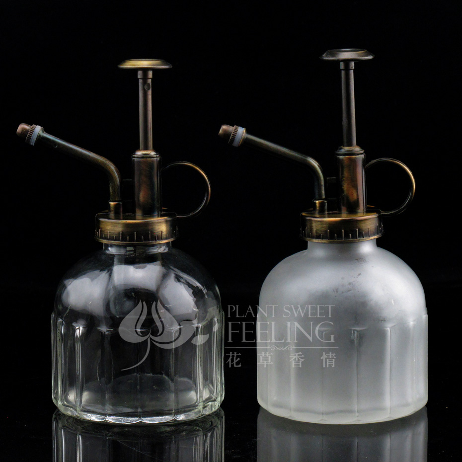 [Love] fragrant flowers and glass plant waterer antique copper glass glass spray bottle watering can watering pot new