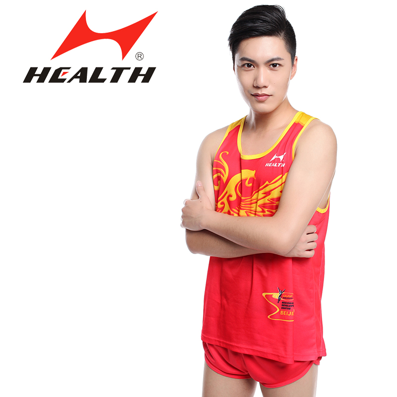 Hales 0101 athletics track suit sportswear suit racing suit vest shorts jogging clothes comfortable and breathable special offer