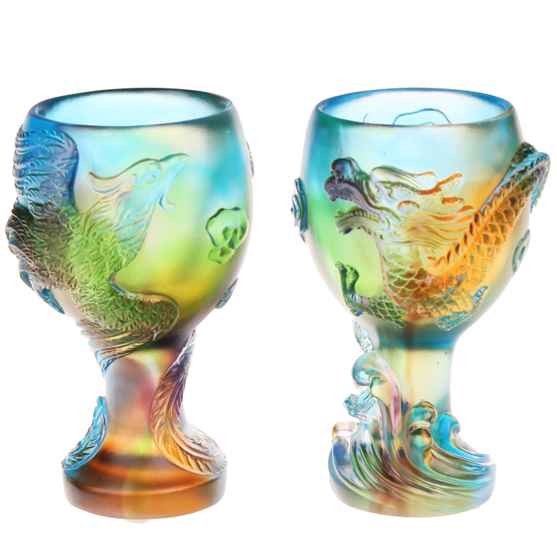 Creative cute practical wedding supplies glass dragon cup cup wedding suit wedding gift to send to friends can be customized