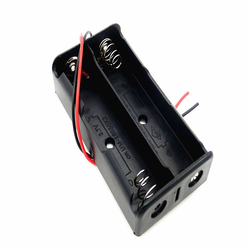 18650 battery box two aa batteries 18650 fasciole 7.4v1500 mah rechargeable lithium battery box section 2 fasciole