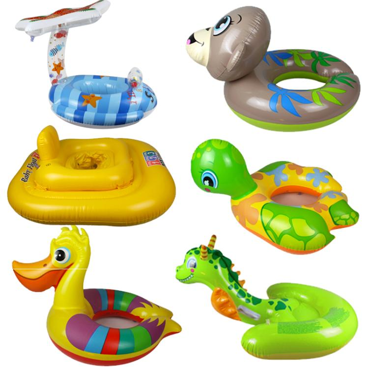 Children's cartoon thick infant seat floating ring life buoy swim ring baby inflatable swim ring armpits
