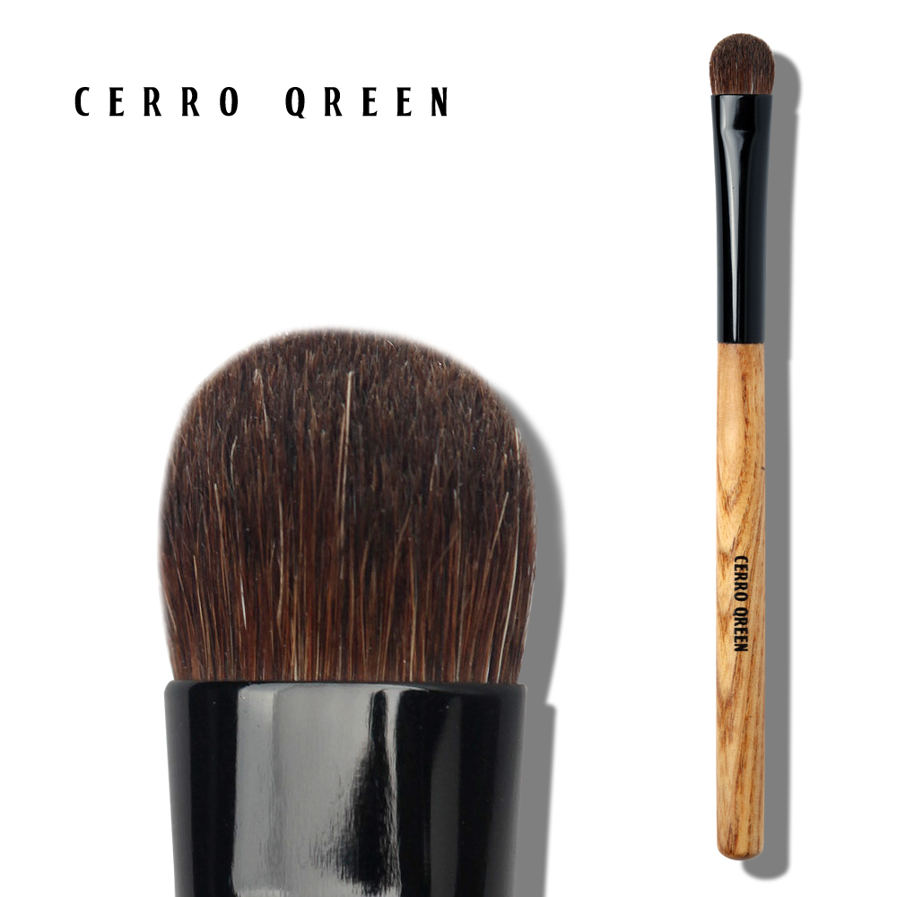 Cerro qreen woodiness h series of small and medium eye shadow brush horse hair soft and comfortable grip powder h13