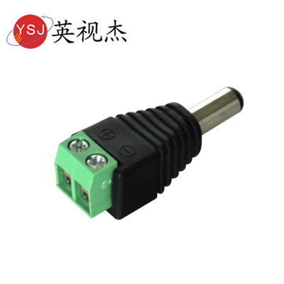 English as dc connector on the camera connector male power connector power cord connector