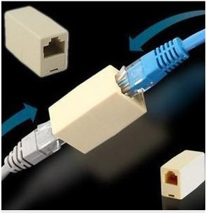Rj45 cable connector through the first network through the first network through network dual head cable for the extension cable connector