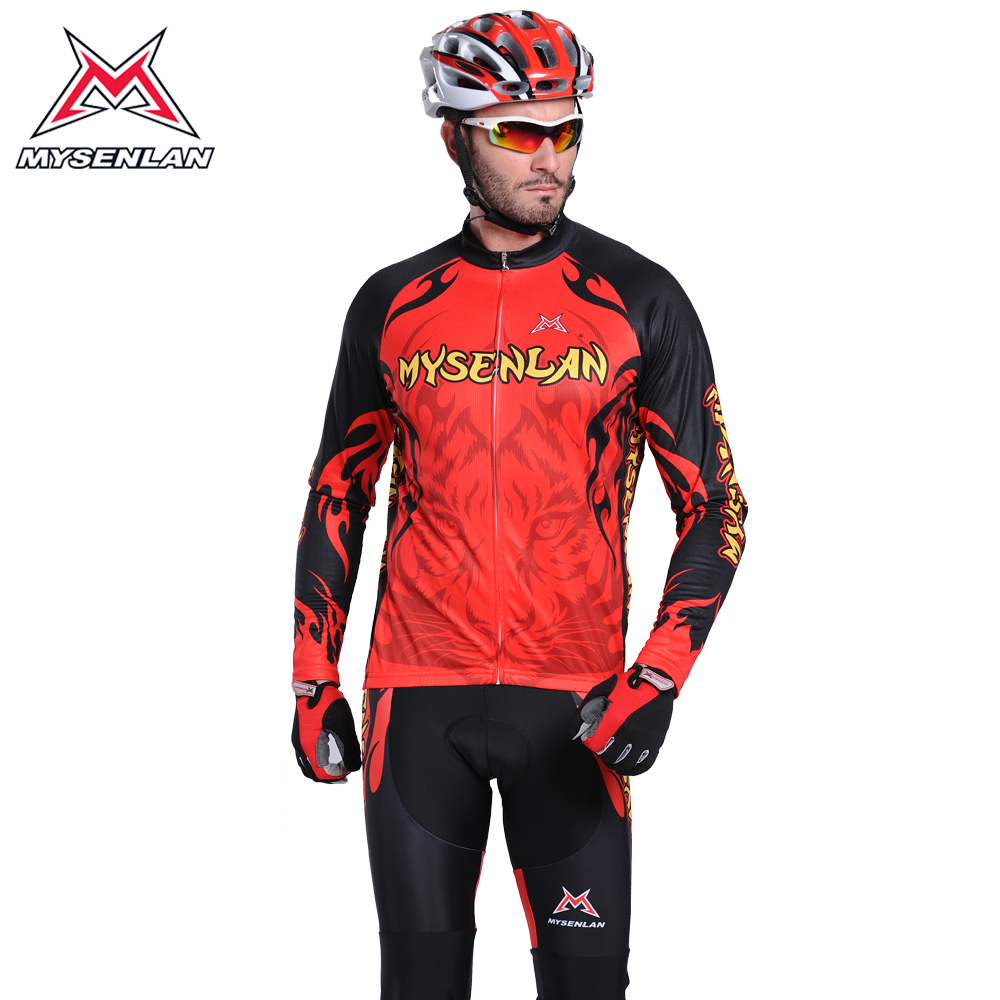 Mai senlan tiger sleeved jersey suits bike jersey long sleeve suit male new
