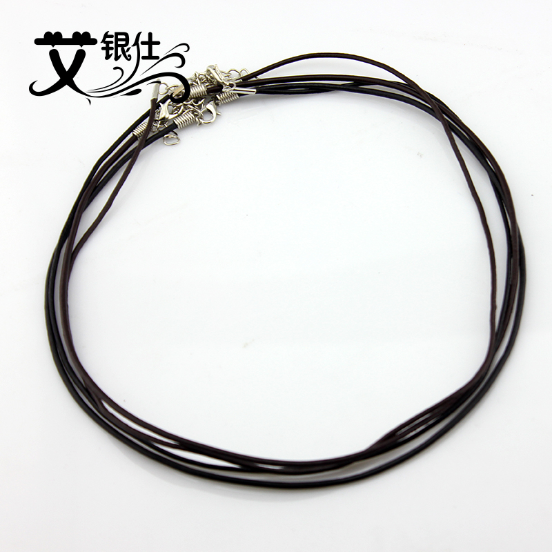 Ai yinshi jewelry accessories leather rope pendant necklace black rope lanyard rope necklace cecectomized 0mm cow leather cord