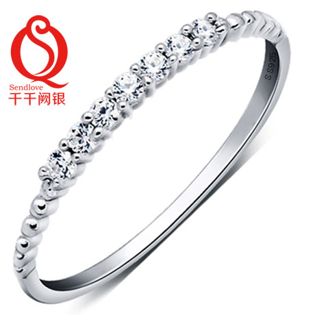 Chien que silver s925 sterling silver rings female tail ring silver ring korean fashion jewelry bridal accessories